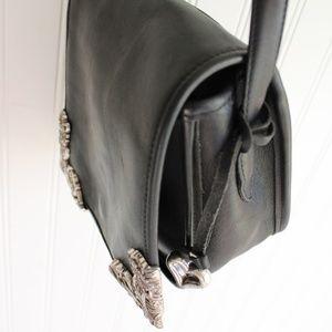 Brighton Leather Crossbody Saddle Purse